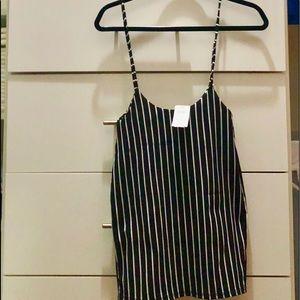 B&W striped skirt suspenders!